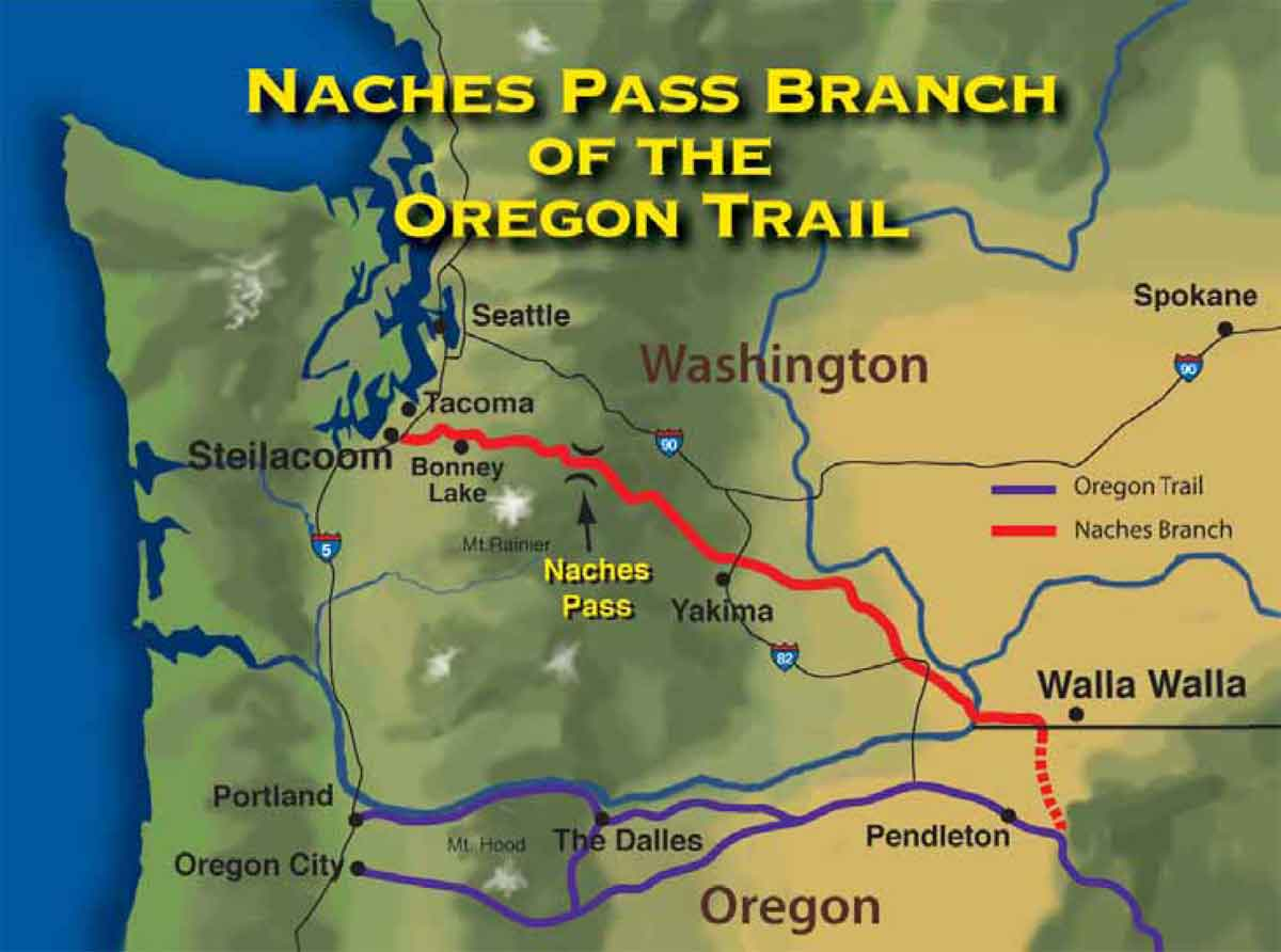 Naches Trail Pass Map (color)